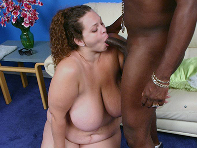 Cock loving bbw Mona Mounds playing with her rack before she gets stuffed by a fat cock in her pussy